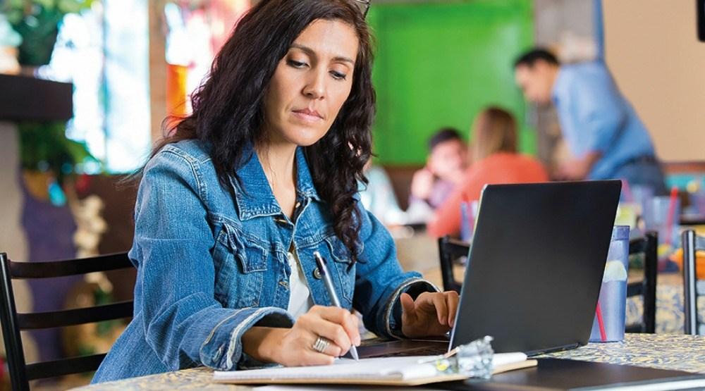Laptop woman 1