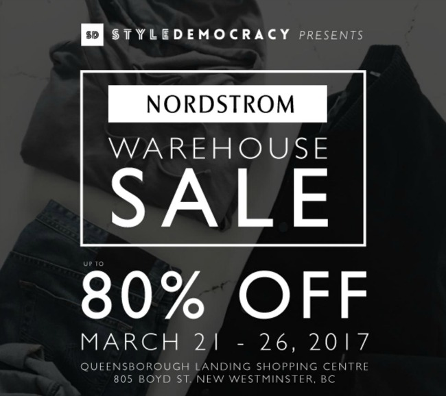 Nordstrom is having a Warehouse Sale from March 21 to 26   Daily ...