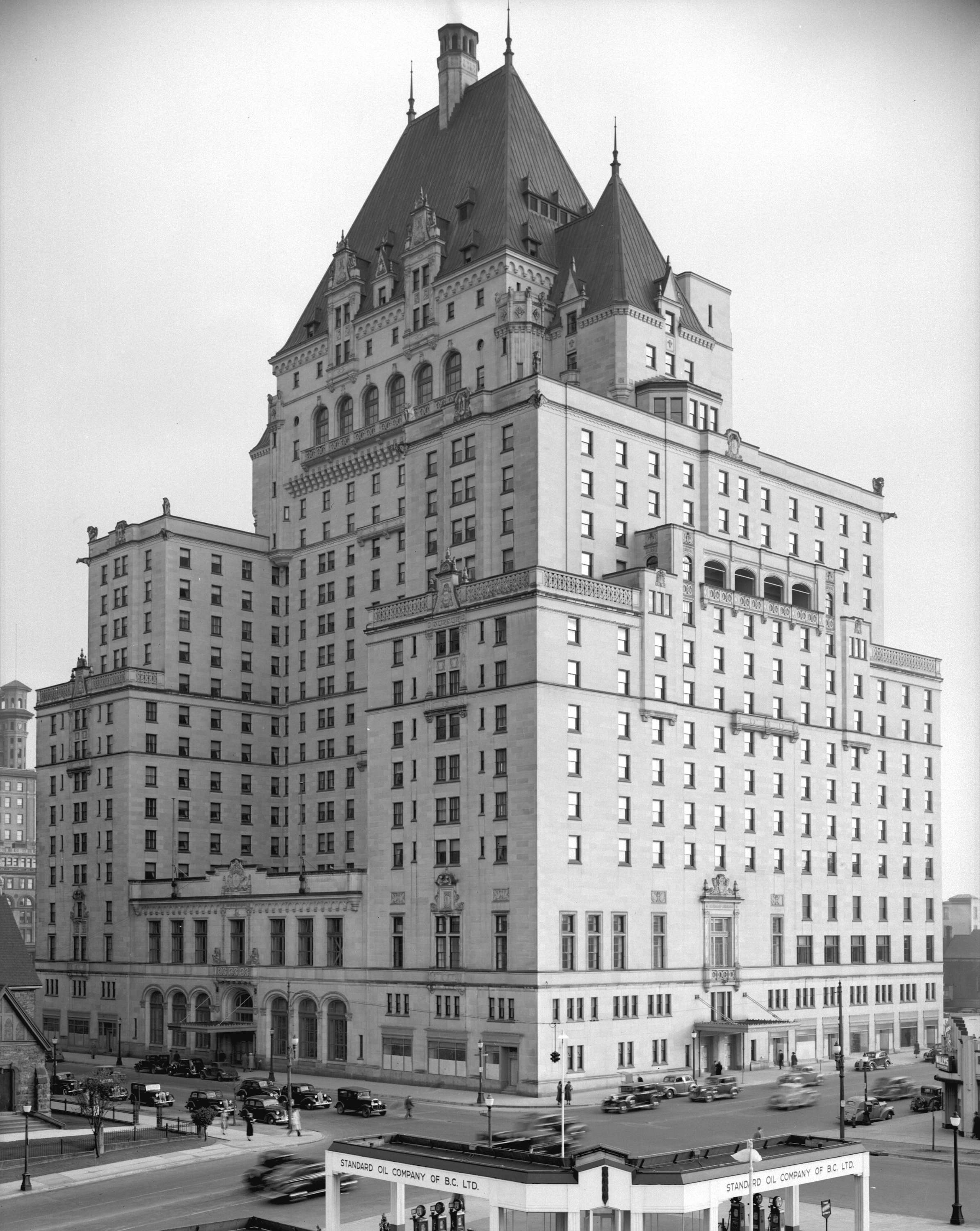 The Fairmont Hotel Vancouver in 1939 (Vancouver Archives)