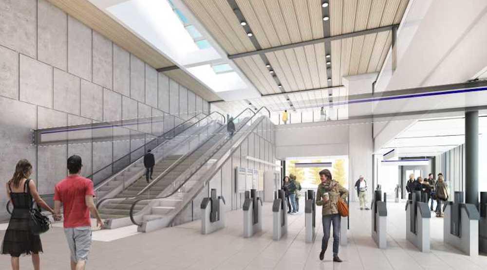 Skytrain surrey central station renovations f