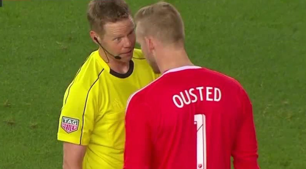 Ousted red card