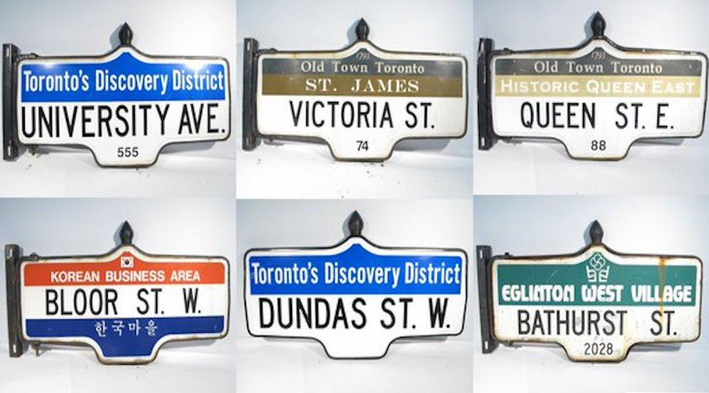The City of Toronto is auctioning off more than 1,500 old street signs