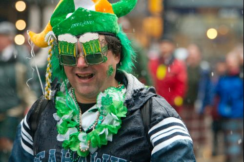 A happy reveller at a previous St. Patrick's Parade in Vancouver (Peter Vanderheyden/Flickr)