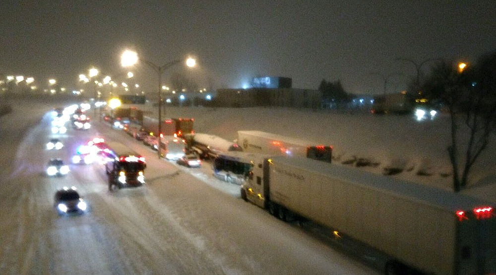 Over 300 cars were stranded on highway in Montreal's West Island last night