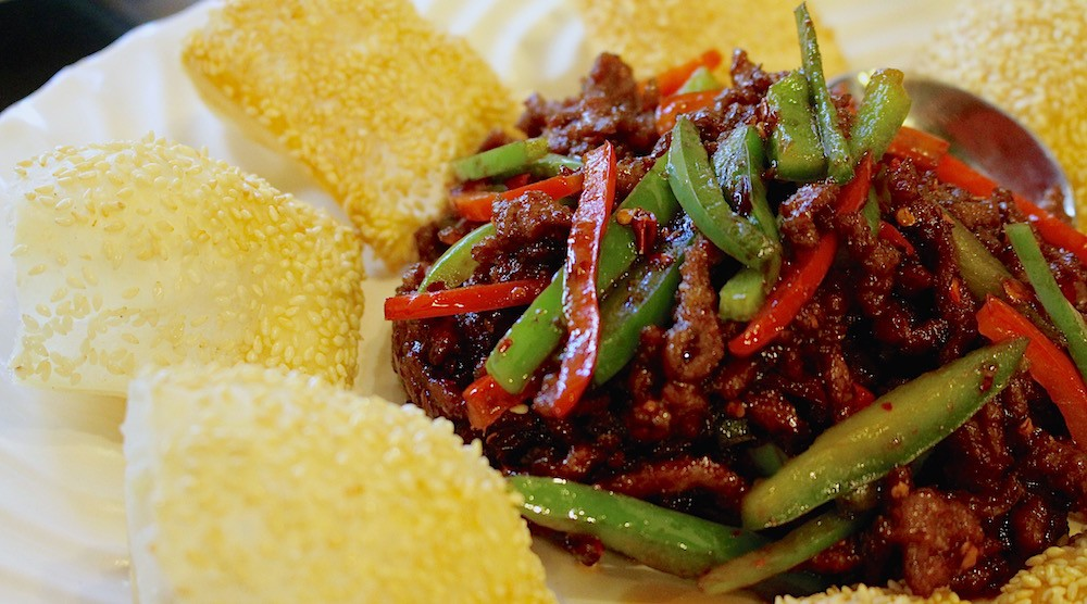 Silkway beef sesame pita