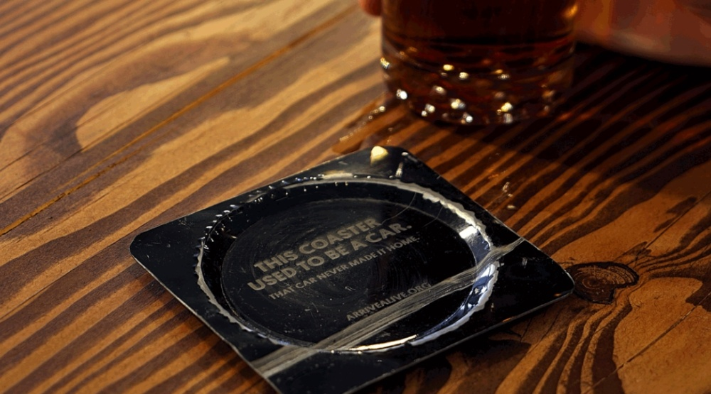 Toronto bar serving drinks on coasters made from car wrecks today