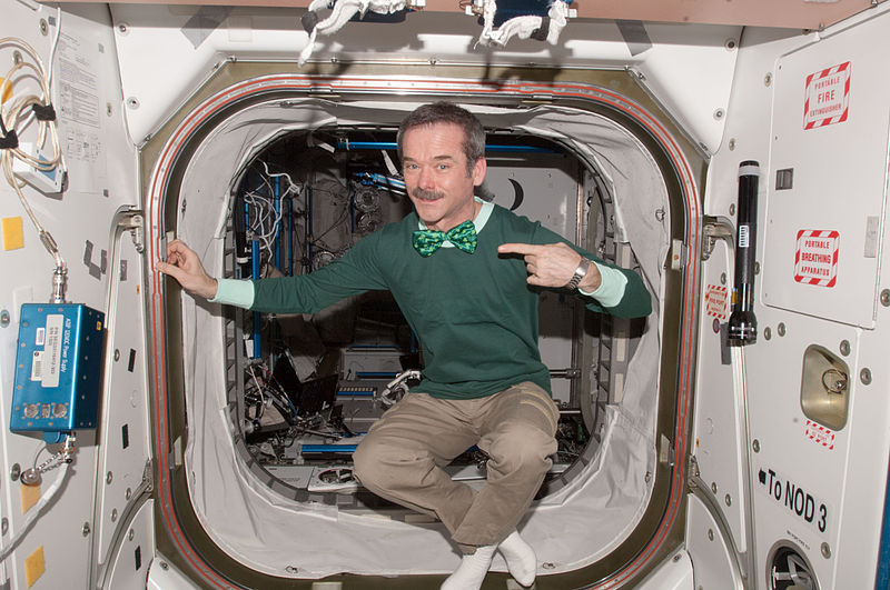 Chris Hadfield on St.Patricks Day