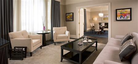 Living room in the Royal Suite, Fairmont Palliser