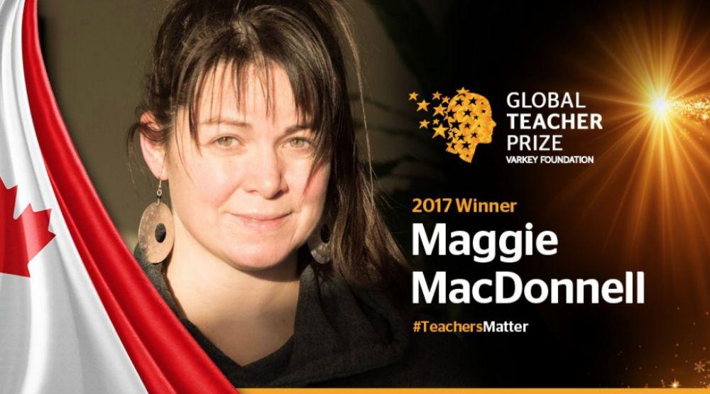 A Quebec teacher has won a $1 million global teaching prize