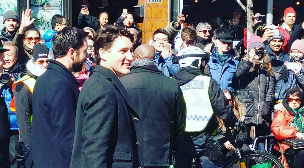11 photos and videos of Prime Minister Justin Trudeau at the Montreal St. Patrick's Day Parade