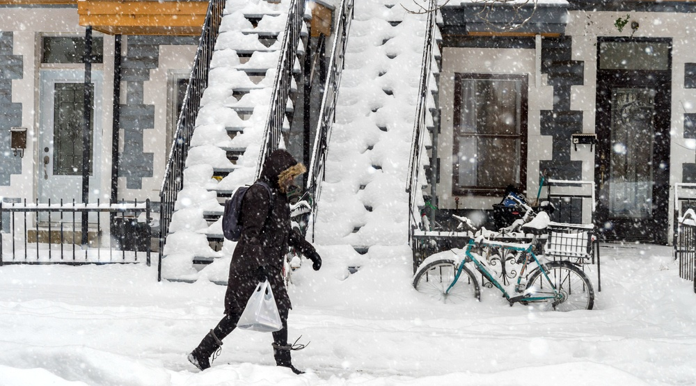 The snow is back in Montreal this weekend