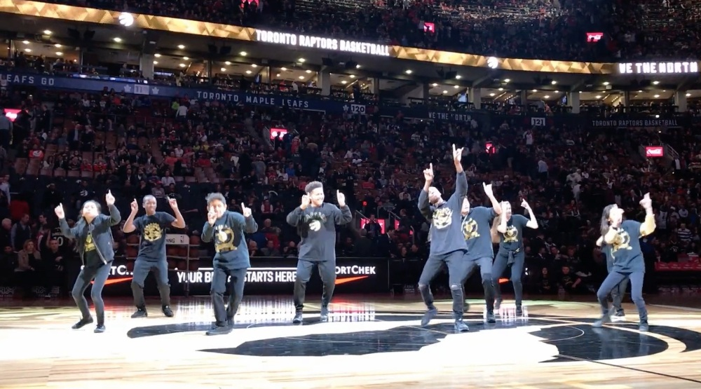 Watch this Toronto youth dance troupe slay at Raptors OVO Night (VIDEO)