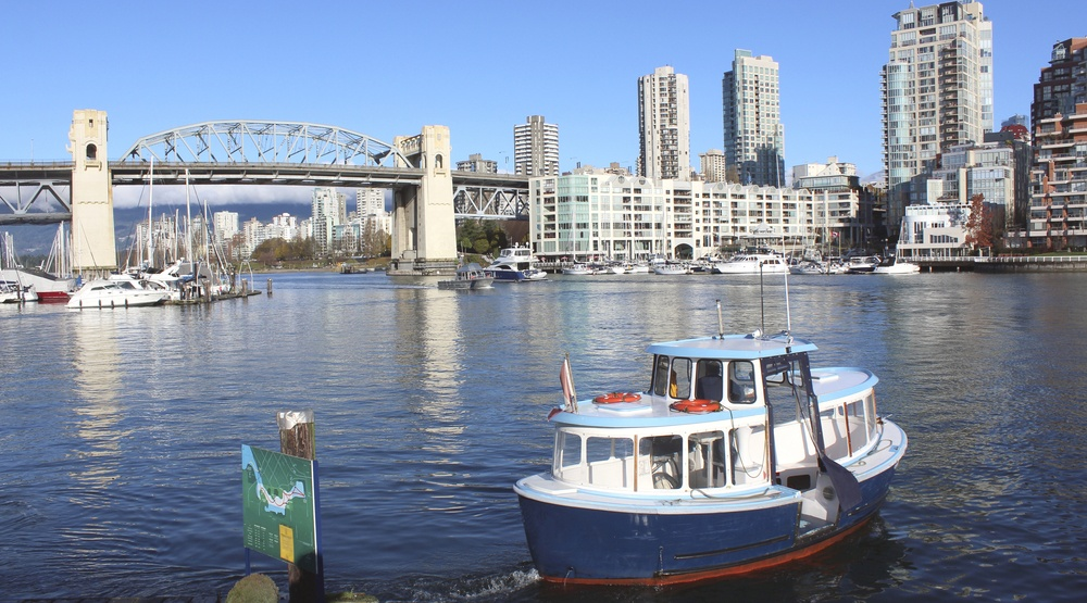 ommuting along Vancouver's False Creek on the British Columbia West Coast/Ferry