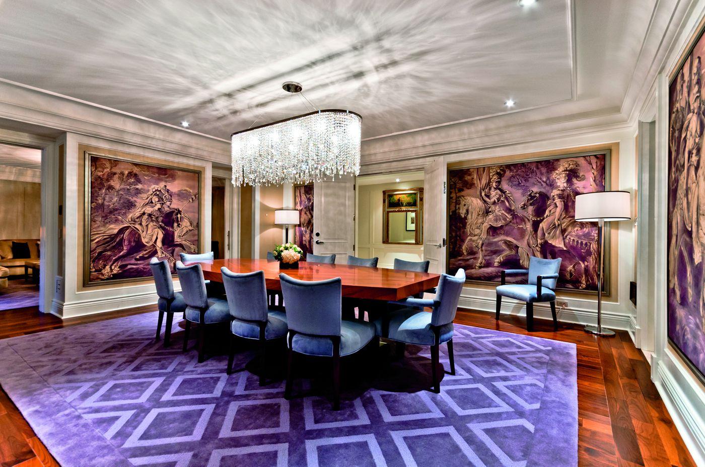 Dining room at the Ritz Carlton Royal Suite (ritzcarlton)