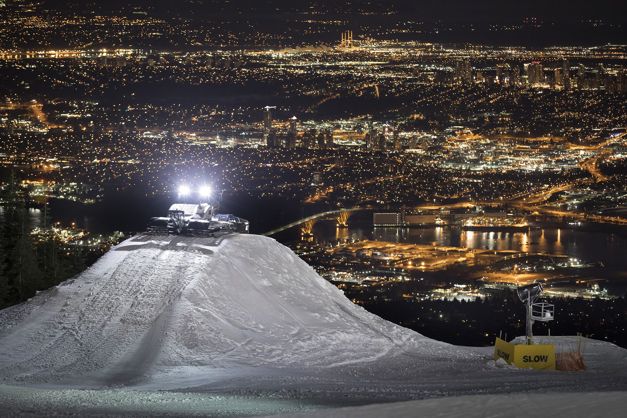 The set up for Red Bull Uncorked on Grouse Mountain in Vancouver (Jussi Grznar/Red Bull)