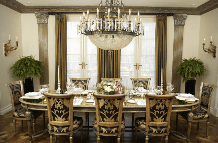 Screenshot of the dining room at the Penthouse Suite (Hotel Le St. James)