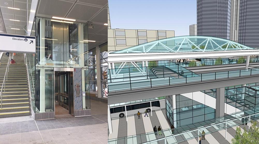 Metrotown station centre stationhouse
