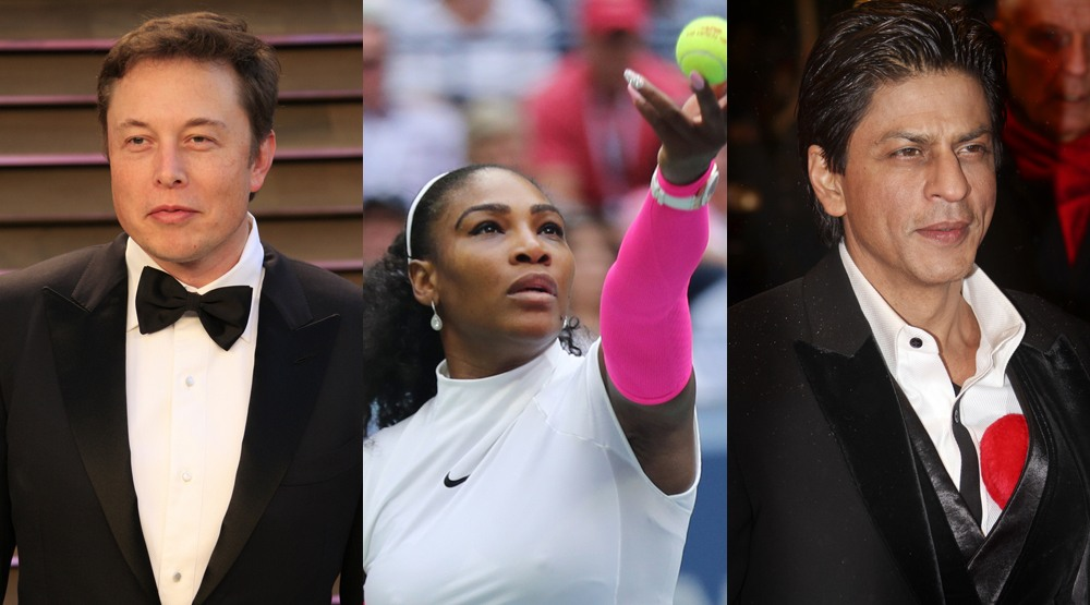 Elon musk serena williams shah rukh khan