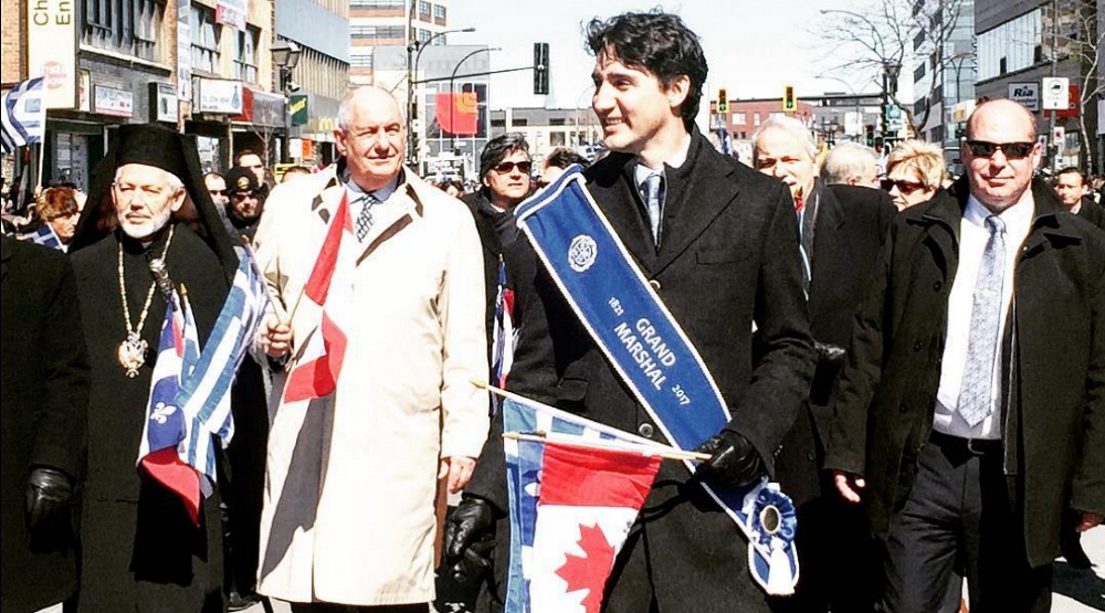 Photos of Justin Trudeau at Montreal's Greek Indepenedence Day parade