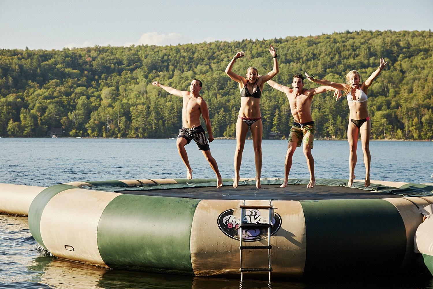 Water activities and swimming at the adult summer camp (Dave Kushner/Camp No Counselors)