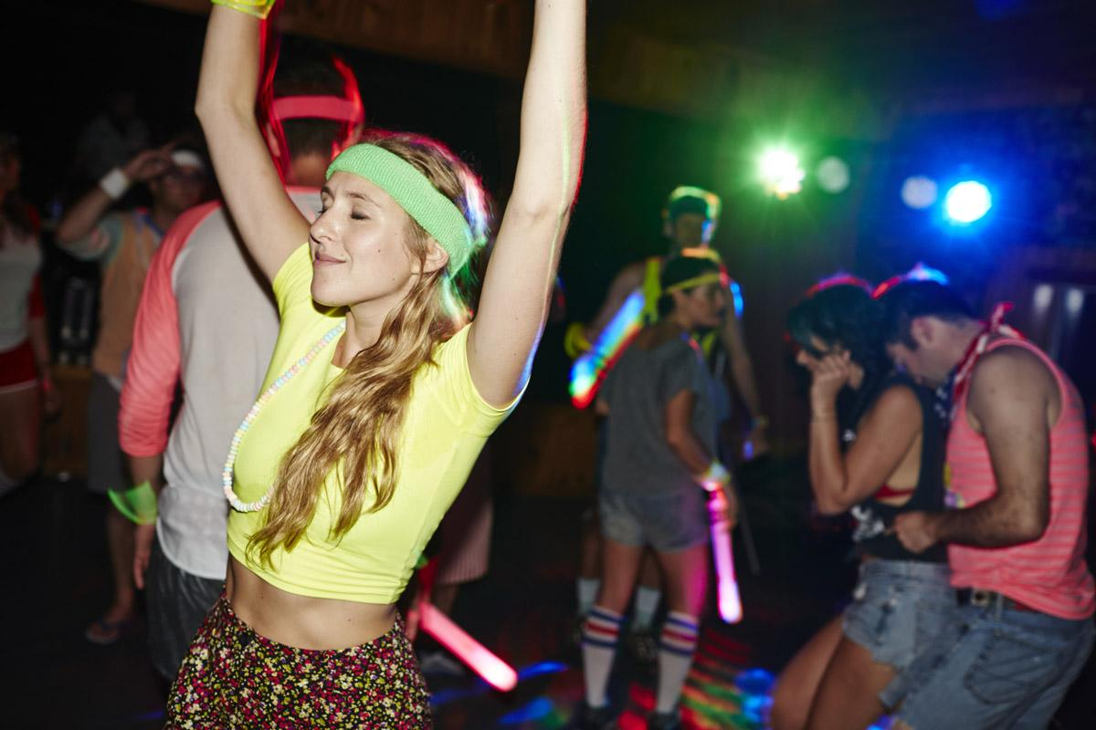 Themed parties at adult summer camp (Dave Kushner/Camp No Councelors)