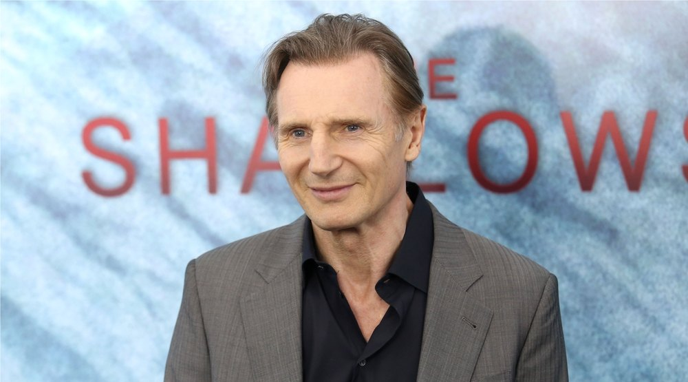 """Liam Neeson attends the premiere of """"The Shallows"""" at the AMC Lincoln Square Theater on June 21, 2016 in New York City."""