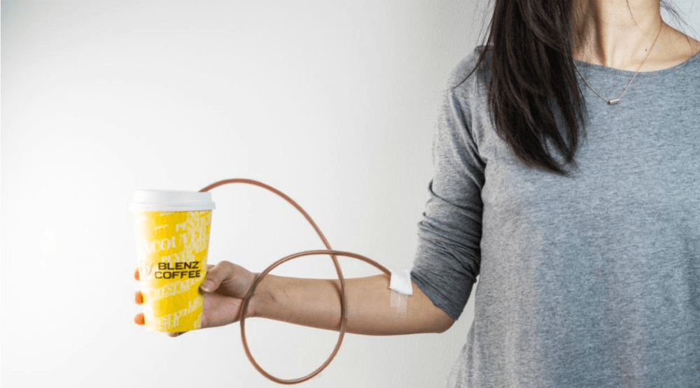 Blenz Coffee IV get caffeine straight into your bloodstream | Etcetera