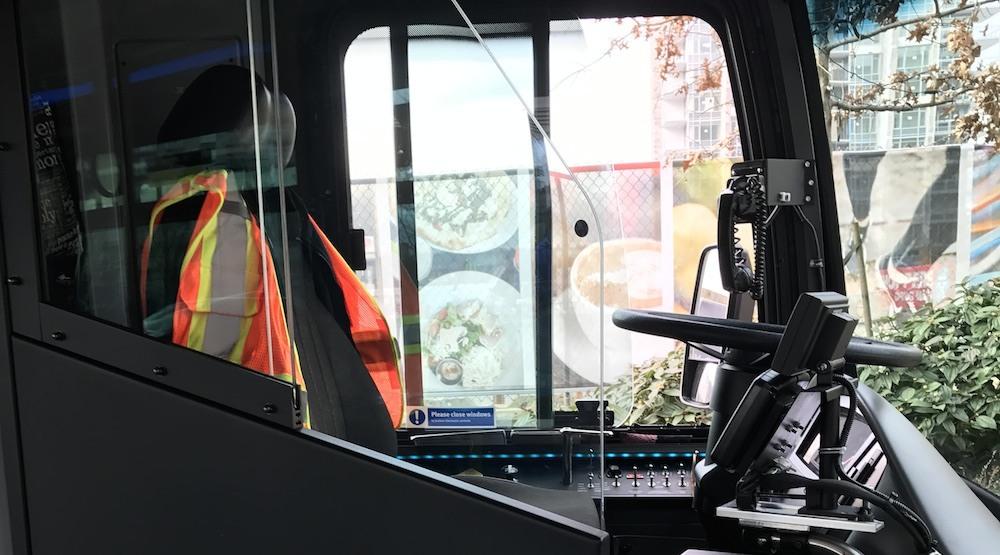 Translink bus driver safety shield barrier