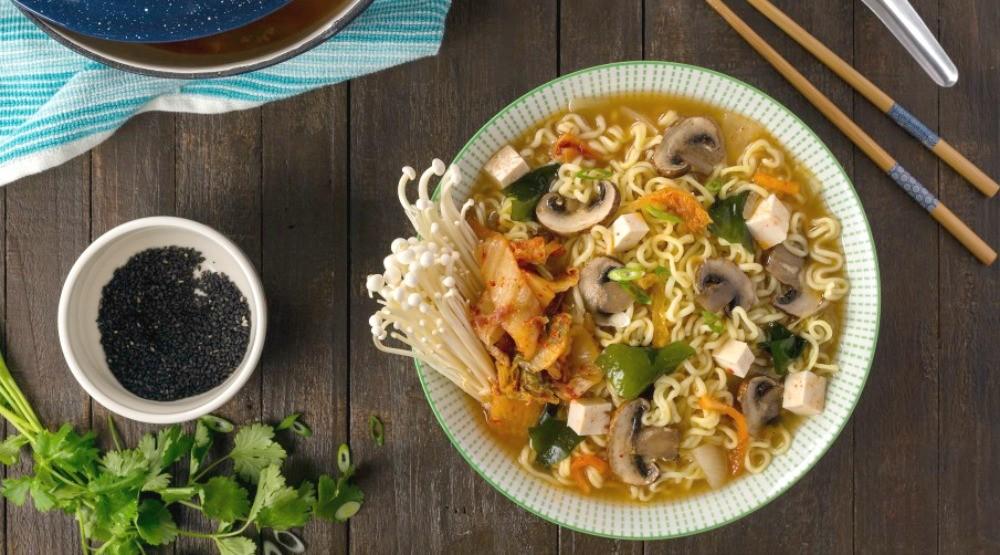 Ramen noodle soupalmond breeze