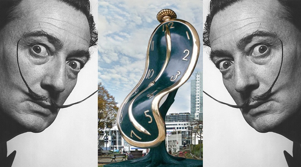 The dance of time i sculpture with salvador dali composite chali rosso art gallery salvador dali facebook