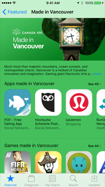 4b6ba03662 Made in Vancouver: Apple featuring locally-made apps for Canada 150 ...