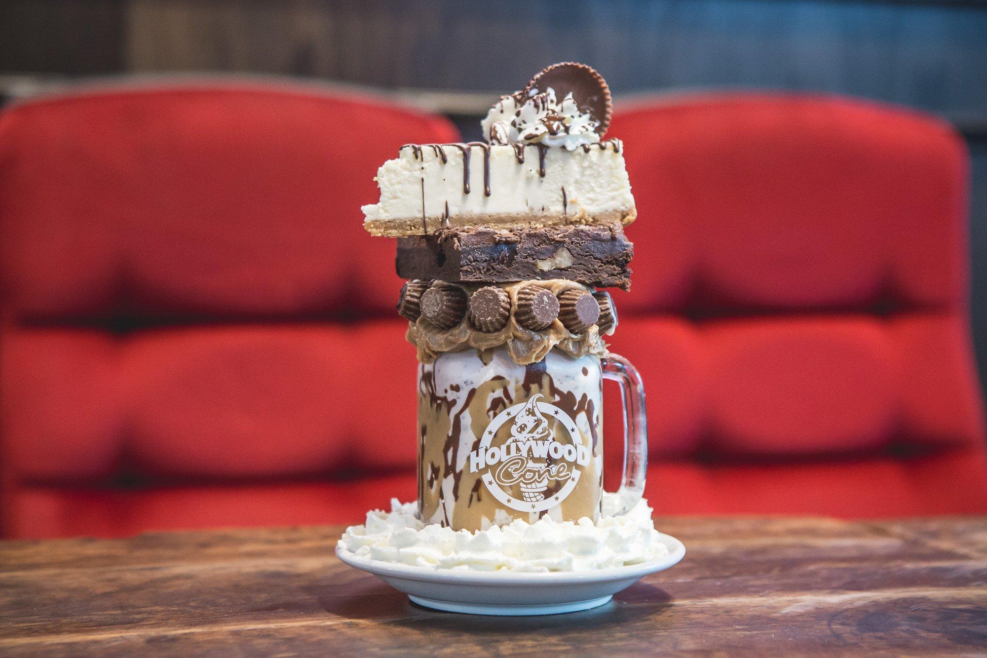 hollywood cone milkshake