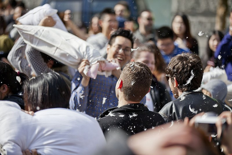 "<a href=""https://www.flickr.com/photos/gotovan/with/33658111541/"">International Pillow Fight Day Vancouver 2017 (GoToVan/Flickr)</a>"