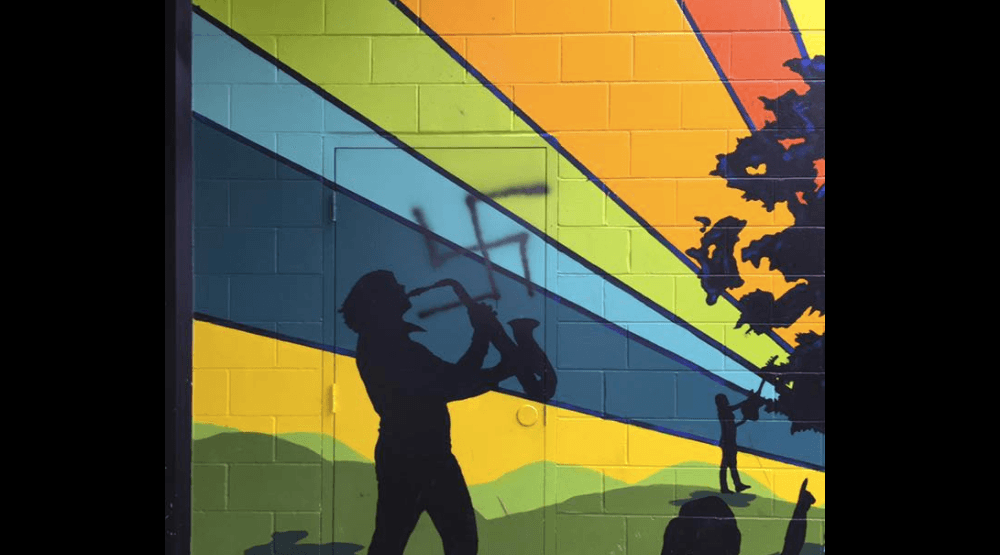Abbotsford school defaced by racist graffiti