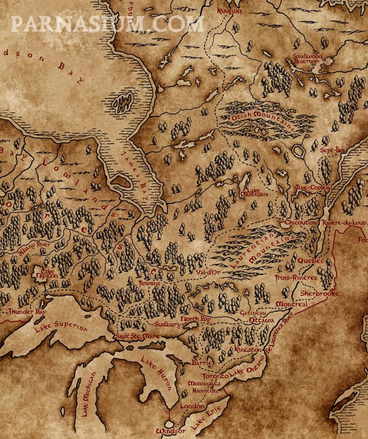 Map of Ontario (Karon Sowa/Parnasium)