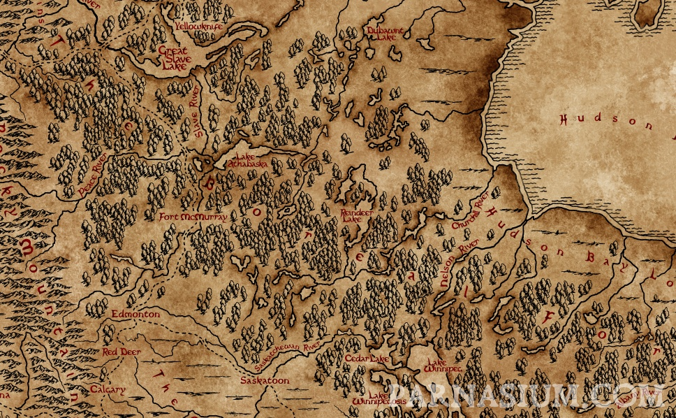Map of the Prairies (Karol Sowa/Parnasium)