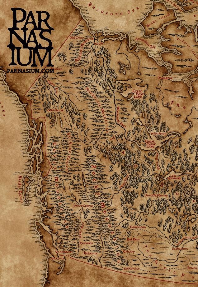 Map of British Columbia (Karol Sowa/Parnasium)