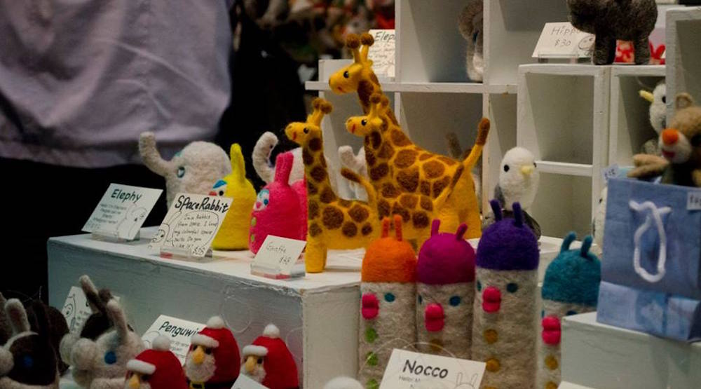 Handmade crafts for sale at a vender's stand (Make It! The Handmade Revolution/Facebook)