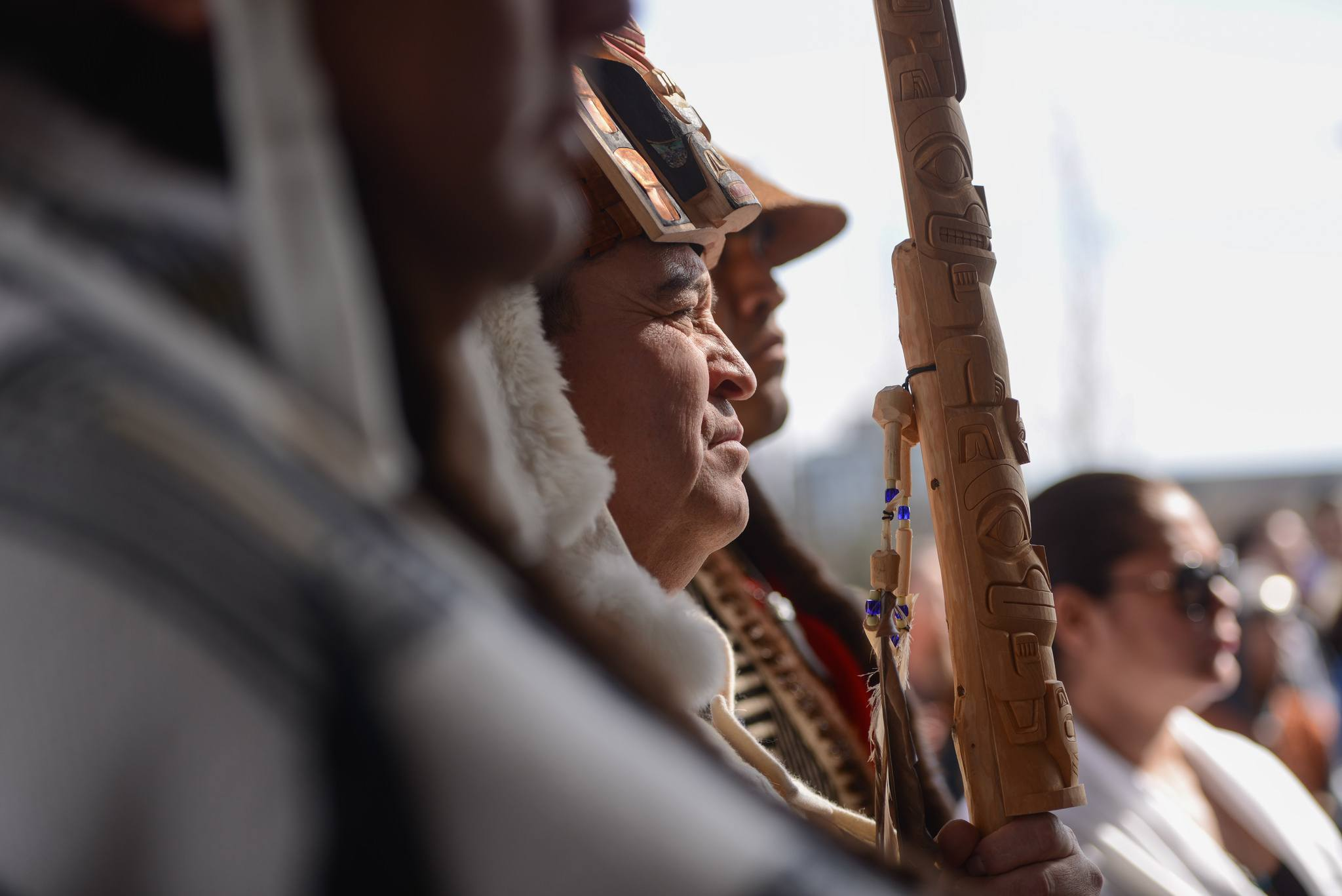 The Reconciliation Pole installation ceremony at UBC (Paul Joseph/UBC)