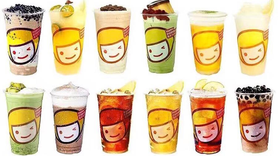 Happy lemon drinks