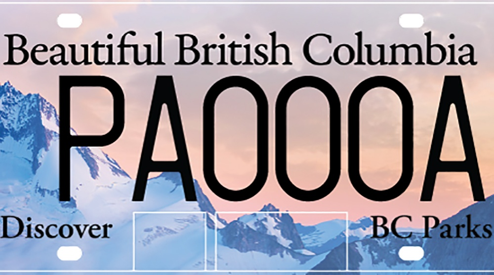 Bc parks licence plate purcell mountains feature1