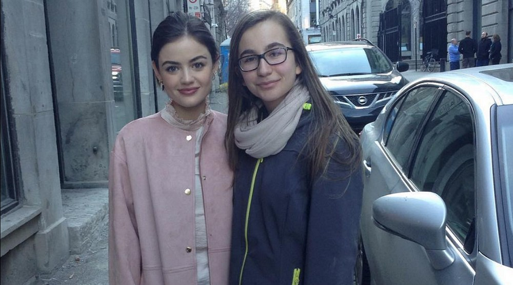 Pretty Little Liars star Lucy Hale has been spotted in Montreal