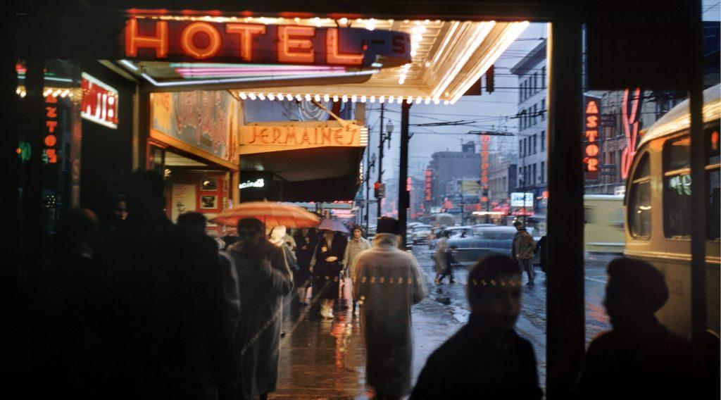 Granville Street at Night by Fred Herzog, 1959 (Fred Herzog Equinox Gallery)