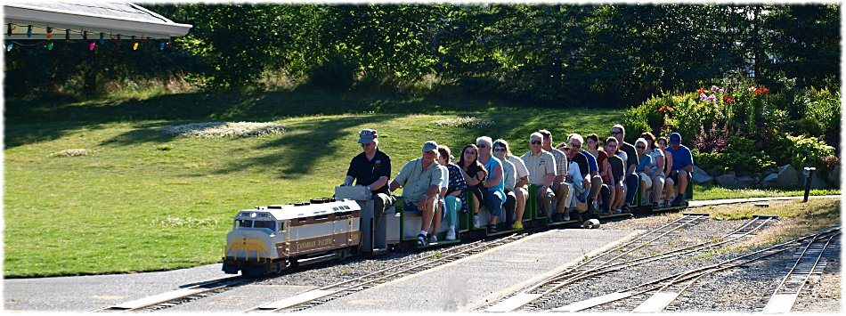 People riding on the Burnaby Central Railway (Burnabyrailway.com)
