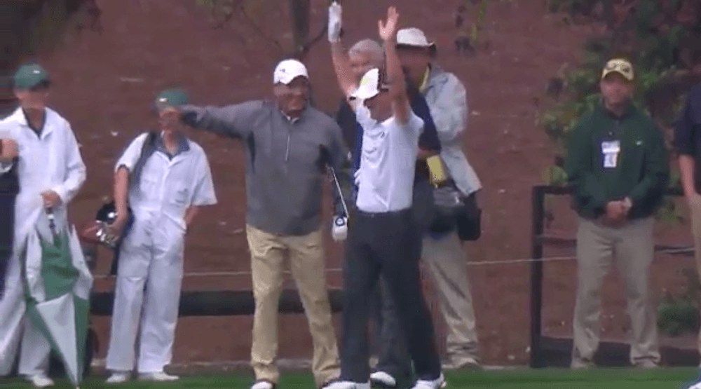 Mike Weir sinks hole in one at Masters par 3 contest (VIDEO)