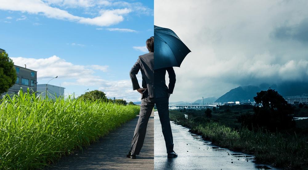 Rain and sun shutterstock