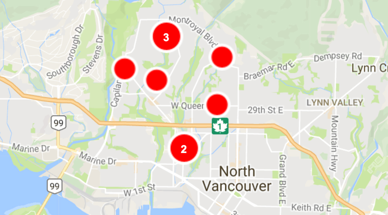 North Vancouver power outage leaves 12,000 without hydro