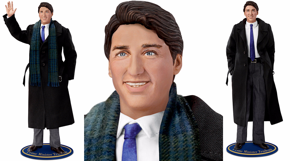 You can now buy this creepy Justin Trudeau doll