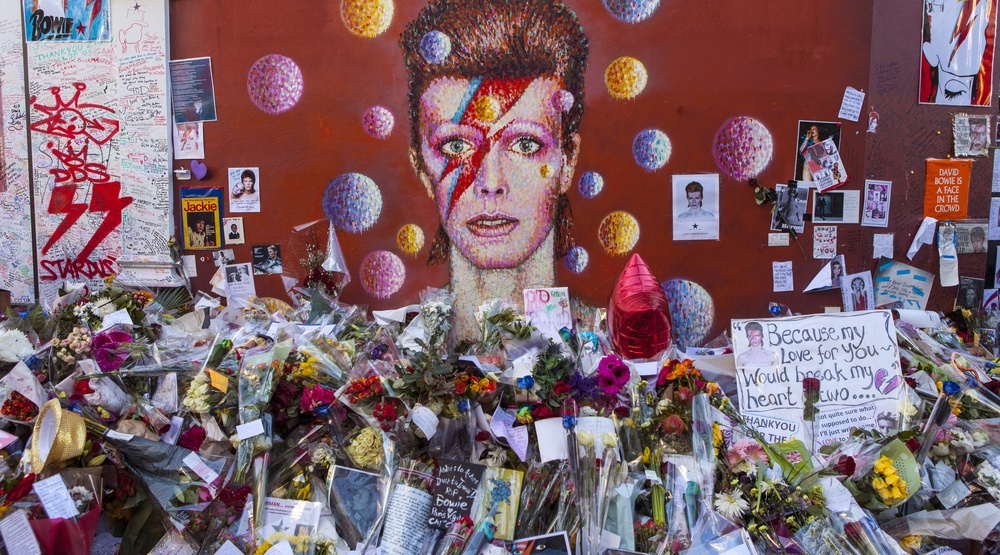 David Bowie shrine in Brixton, London (chrisdorney/Shutterstock)