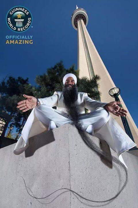 Sarwan Singh, Guinness World Record holder for Longest Beard on a living male (Bhai Sarwan Singh longest beard record holder/Facebook)